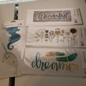 Cricut set of 4 iron on designs brand new